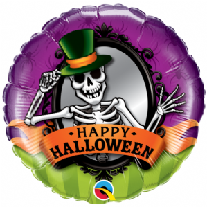 Skeleton Mirror Foil Balloons | Wholesale Prices
